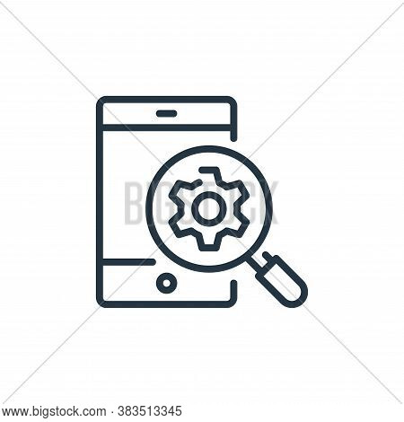 smartphone icon isolated on white background from seo and marketing collection. smartphone icon tren