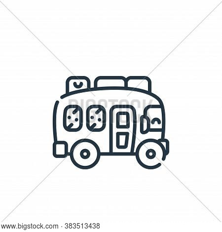 bus icon isolated on white background from adventure collection. bus icon trendy and modern bus symb