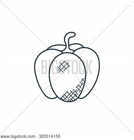 Bell pepper icon isolated on white background from food hand drawn collection. Bell pepper icon tren