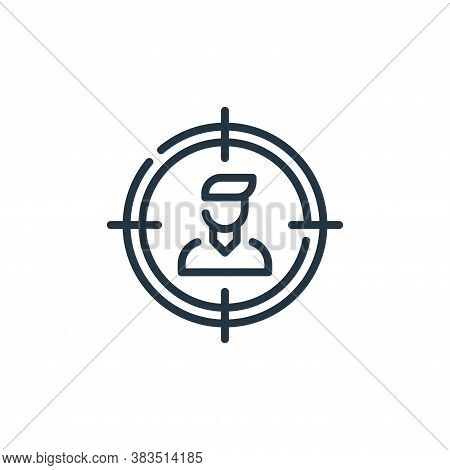 target audience icon isolated on white background from seo and marketing collection. target audience