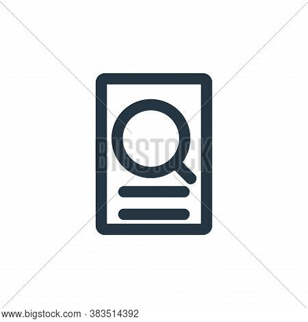 data searching icon isolated on white background from school collection. data searching icon trendy