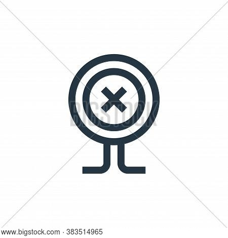 button icon isolated on white background from handcrafts collection. button icon trendy and modern b