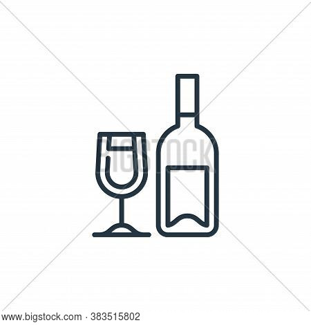 wine icon isolated on white background from celebration collection. wine icon trendy and modern wine