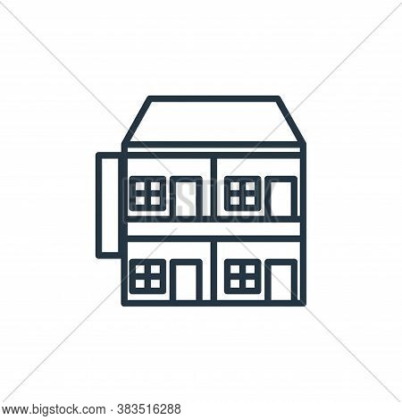 apartment icon isolated on white background from building collection. apartment icon trendy and mode
