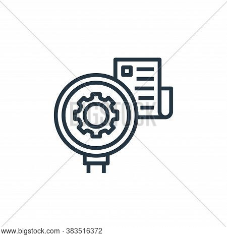consider icon isolated on white background from detecting fake news collection. consider icon trendy