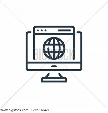 browser icon isolated on white background from seo and marketing collection. browser icon trendy and