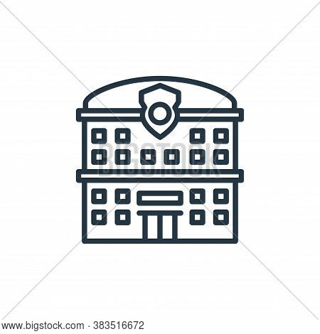 police station icon isolated on white background from building collection. police station icon trend