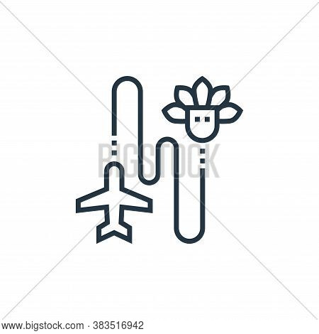 travel icon isolated on white background from brazilian carnival collection. travel icon trendy and