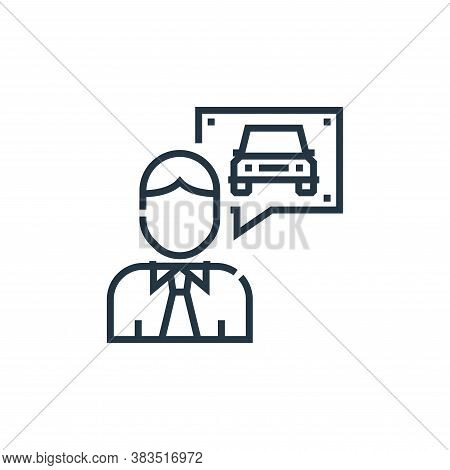 instructor icon isolated on white background from driving school collection. instructor icon trendy
