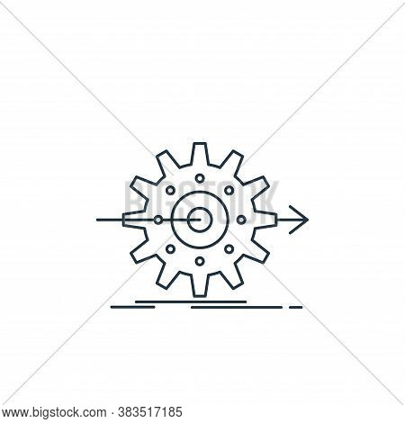 settings icon isolated on white background from analytic investment and balanced scorecard collectio