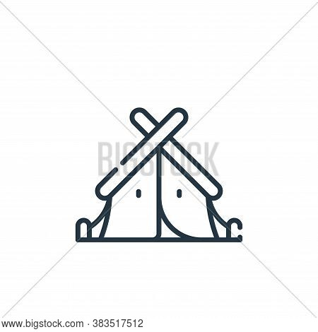 tent icon isolated on white background from adventure collection. tent icon trendy and modern tent s