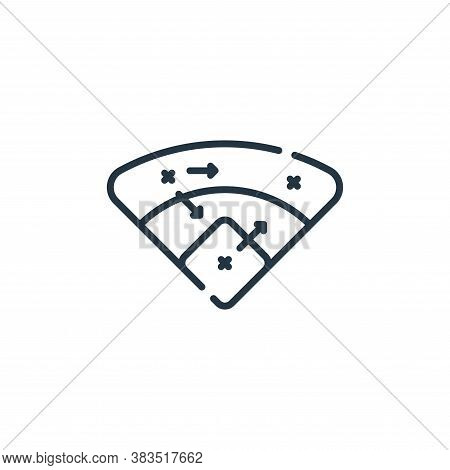 strategy icon isolated on white background from baseball collection. strategy icon trendy and modern
