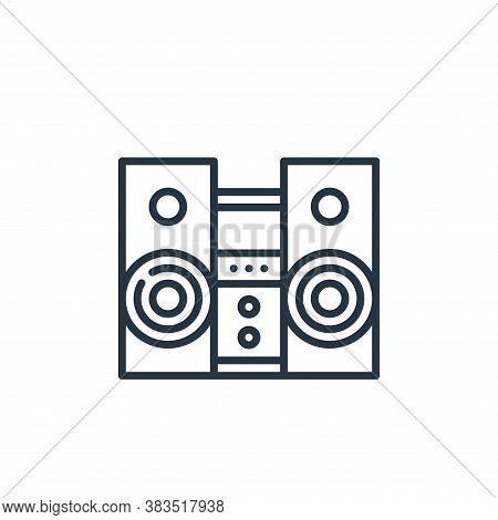 stereo icon isolated on white background from celebration collection. stereo icon trendy and modern