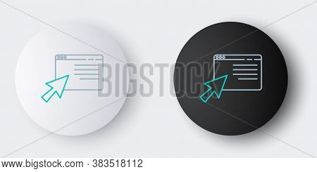 Line Online Shopping In Browser Icon Isolated On Grey Background. Concept E-commerce, E-business, On