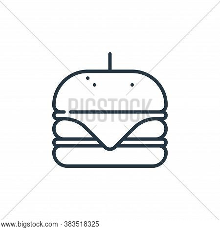 hamburger icon isolated on white background from celebration collection. hamburger icon trendy and m