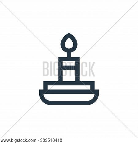 candle icon isolated on white background from fairytale collection. candle icon trendy and modern ca