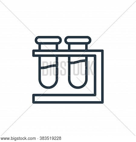 test tubes icon isolated on white background from coronavirus collection. test tubes icon trendy and