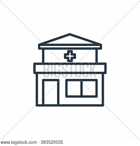 clinic icon isolated on white background from building collection. clinic icon trendy and modern cli