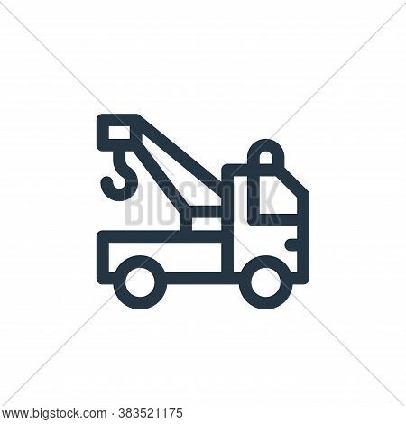 crane truck icon isolated on white background from public transportation collection. crane truck ico