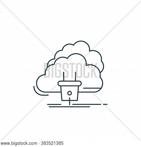 cloud icon isolated on white background from d printing and communication collection. cloud icon tre