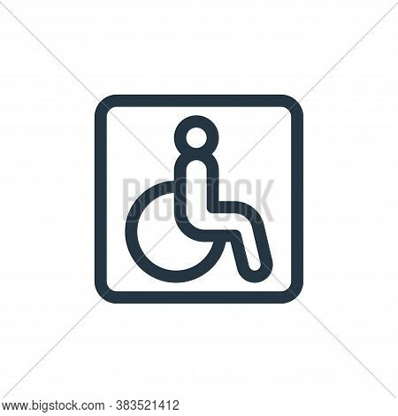 disabled sign icon isolated on white background from public transportation collection. disabled sign