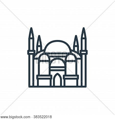 taj mahal icon isolated on white background from building collection. taj mahal icon trendy and mode
