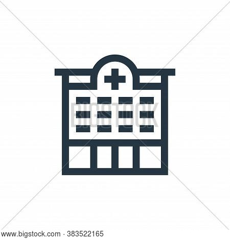 hospital icon isolated on white background from nursing collection. hospital icon trendy and modern