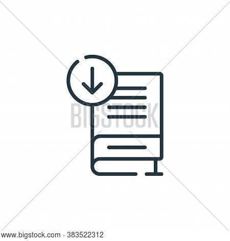 download icon isolated on white background from books and literature collection. download icon trend