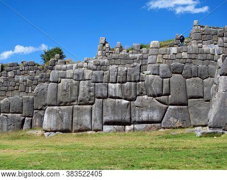 Sacsayhuaman, Ruins Of Fortress In Cusco, Inca Empire, Peru