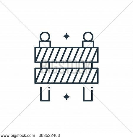 road barrier icon isolated on white background from labor day collection. road barrier icon trendy a