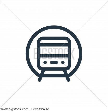 underground icon isolated on white background from public transportation collection. underground ico