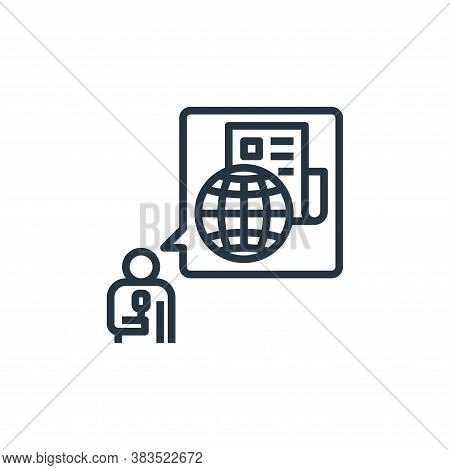 reporter icon isolated on white background from detecting fake news collection. reporter icon trendy
