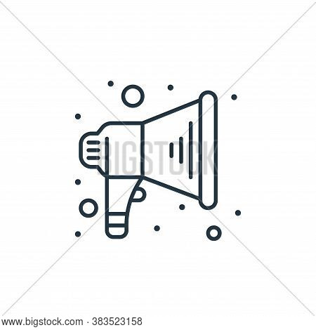 megaphone icon isolated on white background from labour day collection. megaphone icon trendy and mo