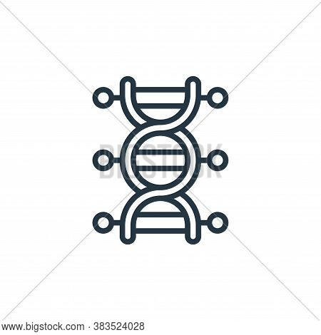 dna symbol icon isolated on white background from coronavirus collection. dna symbol icon trendy and