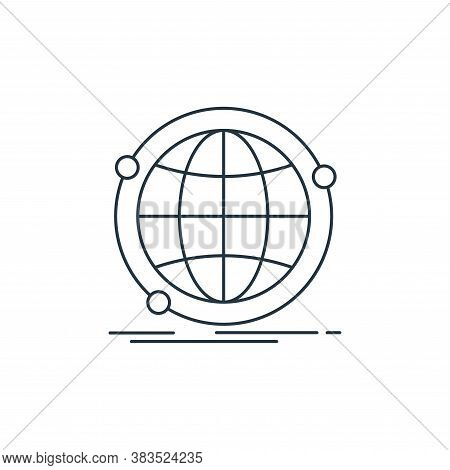 globe icon isolated on white background from d printing and communication collection. globe icon tre