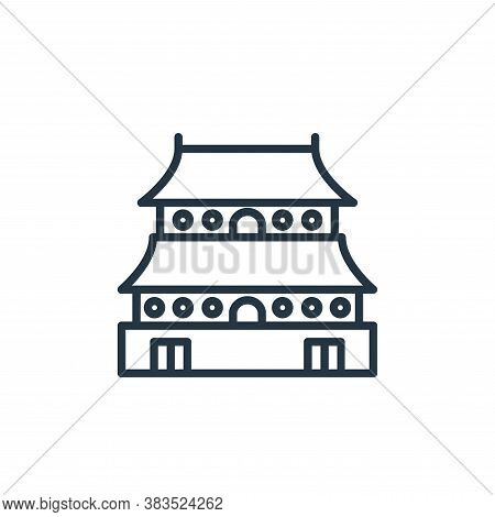 chinese temple icon isolated on white background from building collection. chinese temple icon trend
