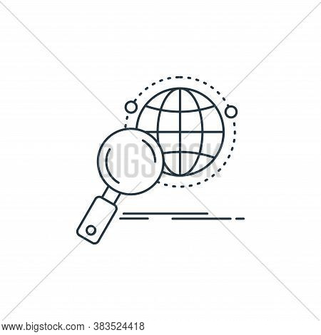 research icon isolated on white background from analytic investment and balanced scorecard collectio