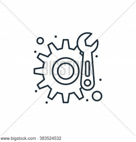 maintenance icon isolated on white background from labour day collection. maintenance icon trendy an
