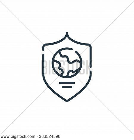 shield icon isolated on white background from mother earth day collection. shield icon trendy and mo