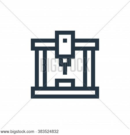 laser cutting machine icon isolated on white background from machinery collection. laser cutting mac
