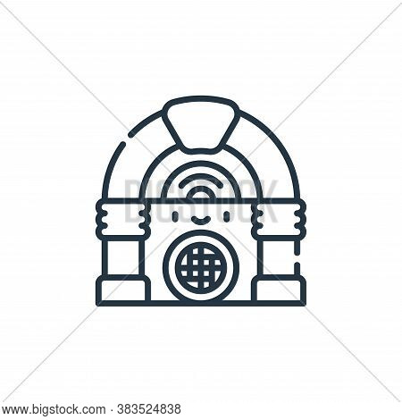jukebox icon isolated on white background from party and celebration collection. jukebox icon trendy