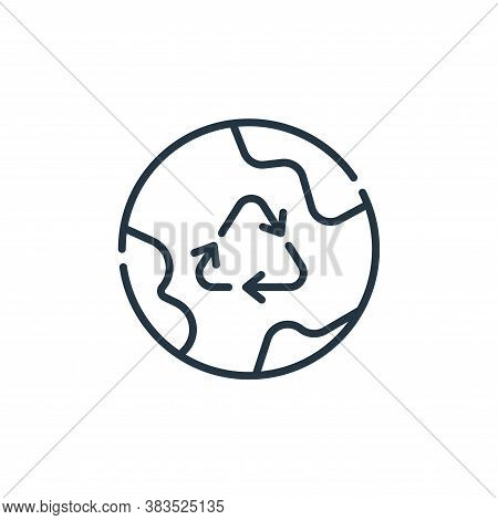 recycle icon isolated on white background from mother earth day collection. recycle icon trendy and