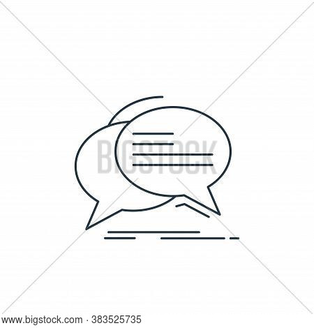 chat icon isolated on white background from d printing and communication collection. chat icon trend
