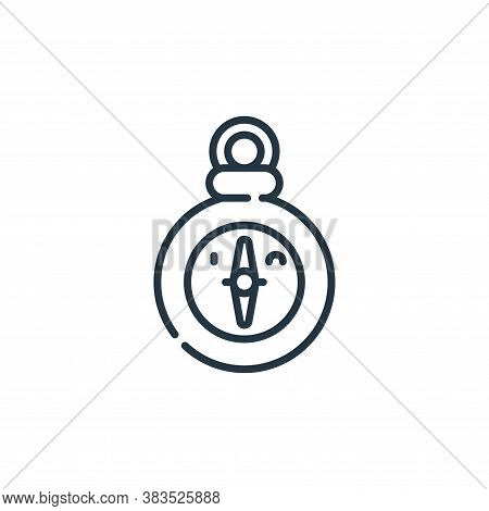 compass icon isolated on white background from adventure collection. compass icon trendy and modern