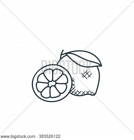 lemon icon isolated on white background from food hand drawn collection. lemon icon trendy and moder