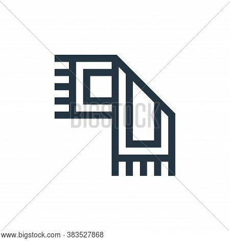 rug icon isolated on white background from handcrafts collection. rug icon trendy and modern rug sym