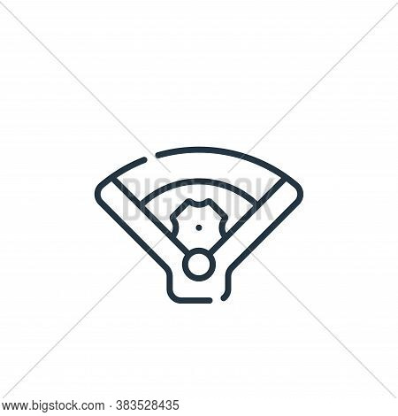 field icon isolated on white background from baseball collection. field icon trendy and modern field