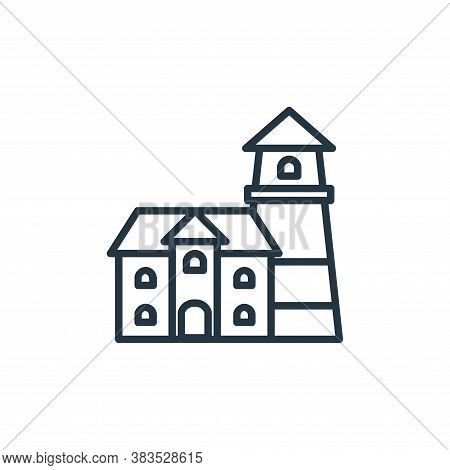 lighthouse icon isolated on white background from building collection. lighthouse icon trendy and mo