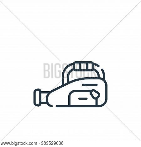 baseball bag icon isolated on white background from baseball collection. baseball bag icon trendy an