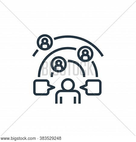 network icon isolated on white background from detecting fake news collection. network icon trendy a